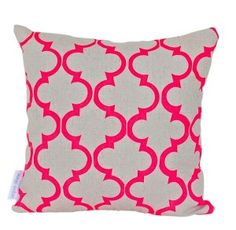 Geometric Fluro Pink Cushion from Super King Australia