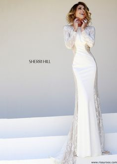 Sherri+Hill+32027+Lace+Evening+Gown