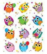 These colorful owl die-cut shape stickers are acid free and lignin free. Includes 72 stickers in 12 assorted colors and owl shapes. Owl Clip Art, Owl Art, Owl Classroom, Classroom Decor, Birthday Bulletin Boards, Owl Wallpaper, Crafts For Kids, Arts And Crafts, Cute Owl