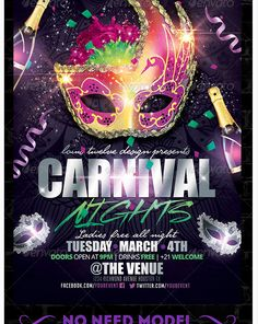 mardi gras carnival flyer template party flyer templates for clubs