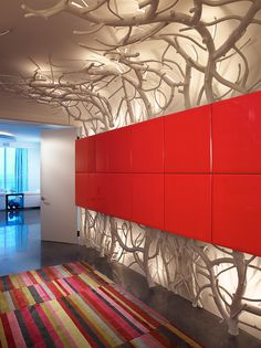 this dramatic light installation would look great in a lobby or office reception area branch office shoe