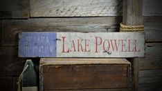 Custom Lake House Lat / Long Sign - Rustic Hand Made Vintage Wooden ENS1000562