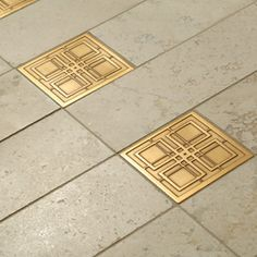 Shelly Tile - Metal Collection - Metals - Bronze Prairie Square Deco