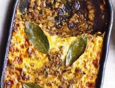 Bobotie recipe, Pronounced ba-boor-tea, the national dish of South Africa is a delicious mixture of curried meat and fruit with a creamy golden topping, not dissimilar to moussaka South African Dishes, South African Recipes, Bbc Good Food Recipes, Yummy Food, Yummy Recipes, Healthy Recipes, Kos, Beef Recipes, Cooking Recipes