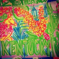 better pic of the Kentucky Lilly Pulitzer pattern!, via Flickr.
