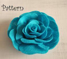 Rose Tutorial Felt Rose PDF Headband Pattern by bedbuggspatterns