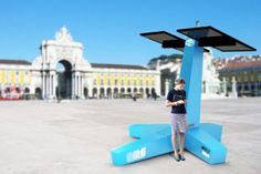 StarEnergy INTI Solar Charger - Portuguese energy company StarEnergy recently unveiled the INTI Solar Charge Point, a solar-powered charging station for mobile phones, tablets and laptops that can be installed in public spaces like parks, beaches, airports, bus/train stations, cities or even be used temporarily in open-air events  Read more: StarEnergy's INTI Solar Charge Point is a Solar Charging Station for Public Spaces | Inhabitat - Sustainable Design Innovation, Eco Architecture