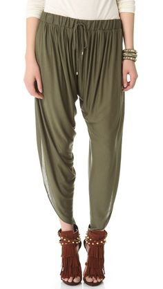 Not my usual style but really like these!  Draped Jersey Harem Pants