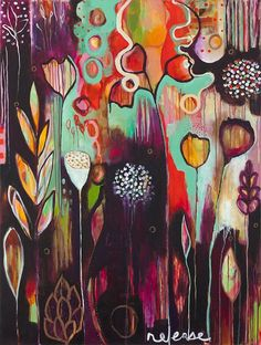 Flora Bowley.. Something like this would be sweet painted on wood