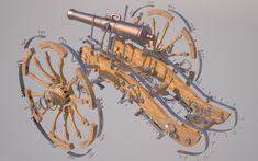 French Gribeauval standardized field artillery