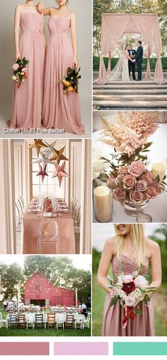 TCCMD958 pink sorbet rustic wedding ideas - pink sorbet one shoulder bridesmaid dresses