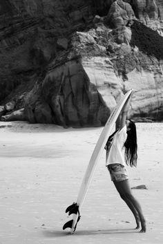 little surfer girl...