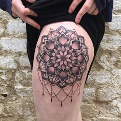 Mandala thigh tattoo - 40 Intricate Mandala Tattoo Designs  <3 <3