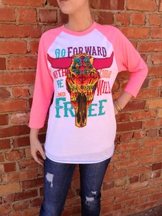 Neon pink tee at The Rusty Rose online store(http://rustyrose.mybigcommerce.com/go-forward-gypsy-soule-tee/)