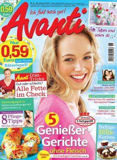 """La crème articulaire naturelle Essential Elements aux 18 huiles essentielles dans le magazine """"Avanti"""" (Fev.2015) - En Français"""