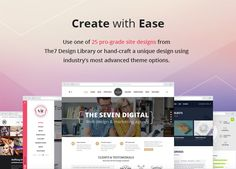 Create with Ease - The7 is an excellent, versatile but also a bit heavy premium #WordPress theme, Includes lots of extras