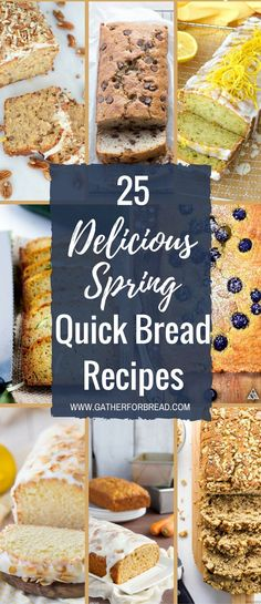 25 Delicious Spring Quick Bread Recipes  Over 25 Amazing delicious spring quick bread recipes. Think lemon, blueberry, strawberry, pineapple coconut and more. All the tastes of spring in easy tasty loaves of bread. I'm sure you'll find at least one beckoning you to the kitchen to bake. I have my eye on the cherry...Read More »