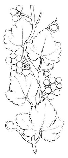 Grape vines. A lovely pattern for a cheese board.