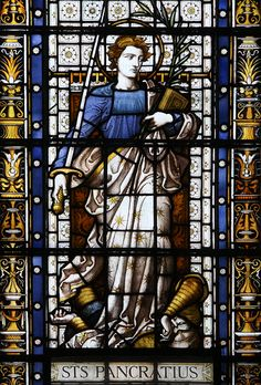 St Pancras. This stained glass window is in New St Pancras' church in London.
