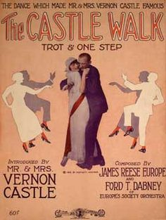 "Sheet Music cover for the ""Castle Walk"""