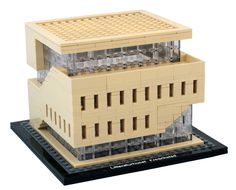 Lego model of the House of Literature in Fredrikstad, Norway.