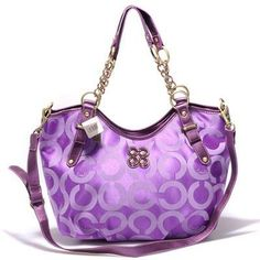 Coach Kristin Op Art Charming Crossbody Purple