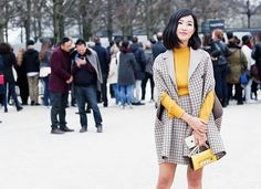 HOW TO STYLE MY GRAY CAPE-Our 2015 Best Dressed Blogger List via @WhoWhatWear