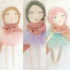 Candy Floss Collection Doll by LittleLapinHandmade on Etsy