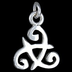 Silver pendant,  Celtic sign Silver pendant, Ag 925/1000 - sterling silver. Celtic sign. Dimensions approx. 14x13x1mm.