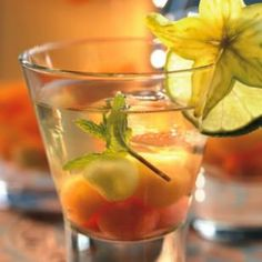 White sangria. I've made this tons of times- never any leftovers. We usually add more wine & a little of whatever clear liquor we have around the house, vodka, etc :)