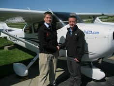 John Clark added an Instrument rating to his pilot certificate on April 24, 2012. To obtain his Instrument Rating, John passed an oral and a flight exam with a Federal Aviation Administration designated flight examiner. John is enrolled in the Professional Pilot Program at the University of Cincinnati. The laboratory portion of the Professional Pilot Program is taught by Sporty's Academy at the Clermont County Airport. John is pictured with his instructor, Cory Deming.
