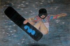 Olympic Series 3 Snowboarding Halfpipe drawing by TwinSisCreations