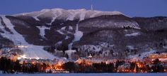 Tremblant, Quebec, CA. Can't leave the east coast of N. America, don't mind the cold or flat slopes and have a hankering for great nightlife, head to Tremblant. A true french canadian riding experience. Sky Resort, Quebec Winter, Algonquin Park, Best Skis, Christmas Vacation, Holiday Destinations, East Coast, Skiing, Snowboarding