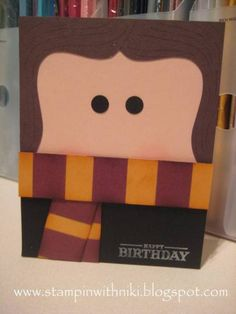 Harry Potter Card   Ok so I am so making this for Holly....