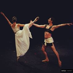 Dancers Alin Radu & Alina Mihai during Syncreto live performance