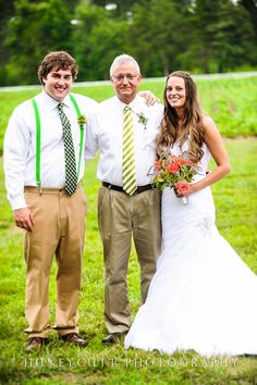 The Bride and Groom with the officiant (her favorite Uncle John).