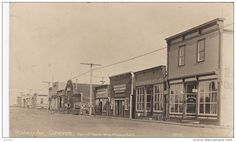 RP: Storefronts on Railway Avenue , CARIEVALE , Saskatchewan , Canada , 00-10s - Delcampe.com Saskatchewan Canada, Sales Image, Store Fronts, Original Image, Old World, Postcards, Medieval, Street View, Spaces