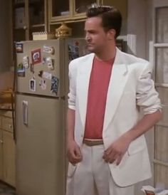 Chandler Bing from Friends goes full-on Miami Vice and so can you.  Great costume idea for your next #80s party. http://www.liketotally80s.com/2008/12/80s-costume-miami-vice/
