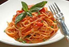Capellini Pomodoro! One of my favorite go to meals except I make mine with whole wheat angel hair pasta.
