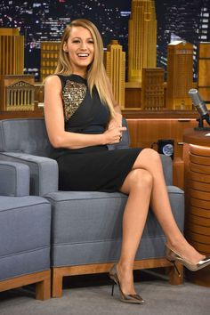 """Oh nothing, just Blake Lively looking hot AF on """"The Tonight Show."""""""