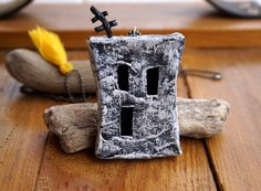 Statement Necklace Miniature House Paper Necklace Long by irineART