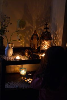 Ideas for creating sacred space/altar in your home. Catholic, Christian, prayer, spirituality