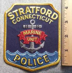 Stratford Connecticut Police Patch (Highway Patrol, Sheriff, Ems, State)