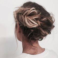 coque trança messy hair