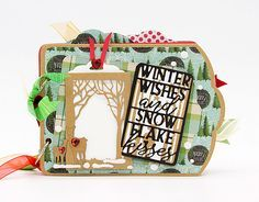 Louise Sims Papercrafter: Tag book using the new Tonic Studios Enchanted Forest & Wonderous Woods tag die sets. Christmas Holidays, Christmas Cards, Forest Silhouette, Tonic Cards, Wood Tags, Studios, Simple Photo, Cocktails, Create And Craft