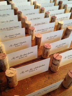 Wine Cork Place Cards is part of Wedding decorations Includes place cards assembled in the wine corks A rustic, vintage, and unique way to escort your guests to their tables Perfect for the vineya - Perfect Wedding, Fall Wedding, Dream Wedding, Wedding Rustic, Rustic Wedding Centerpieces, Wedding Beauty, Wedding Hair, Wedding Dresses, Cork Place Cards