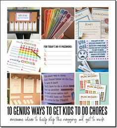 chore charts for kids - super clever ideas that will make kids want to do their chores