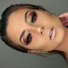 Gorgeous Makeup Ideas That I Want To Try Wunderschöne Make-up-Ideen, die ich Eye Makeup Art, Eye Makeup Tips, Makeup Goals, Glam Makeup, Skin Makeup, Plum Eye Makeup, Makeup Monolid, Makeup Guide, Dress Makeup