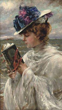 Fernand Toussaint, Femme Iisant