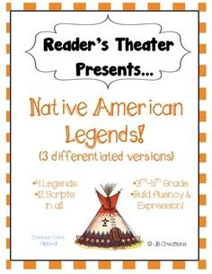 Focus on differentiation!  This readers theater set features 4 popular Native American legends written on 3 separate reading levels for a total of 12 plays!  Each script contains 4-6 parts, making it a perfect activity for centers or leveled guided reading groups!